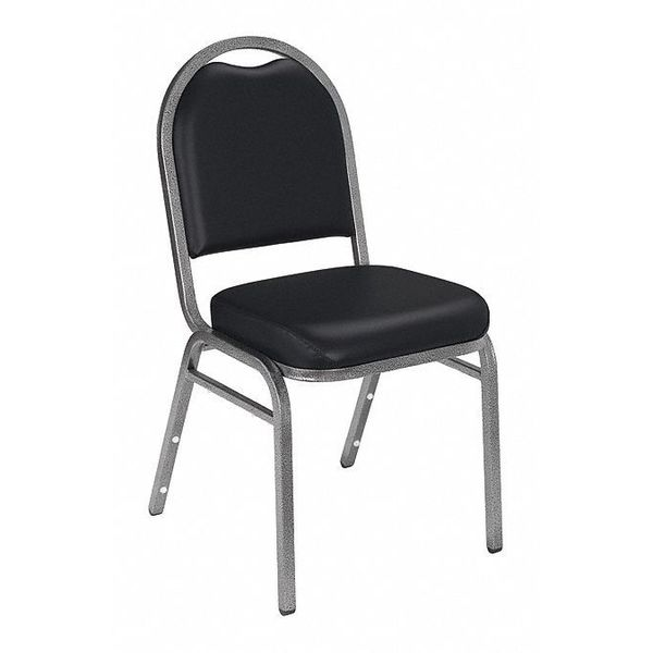 NATIONAL PUBLIC SEATING 9210-SV Stacking Chair, 9200 Series,