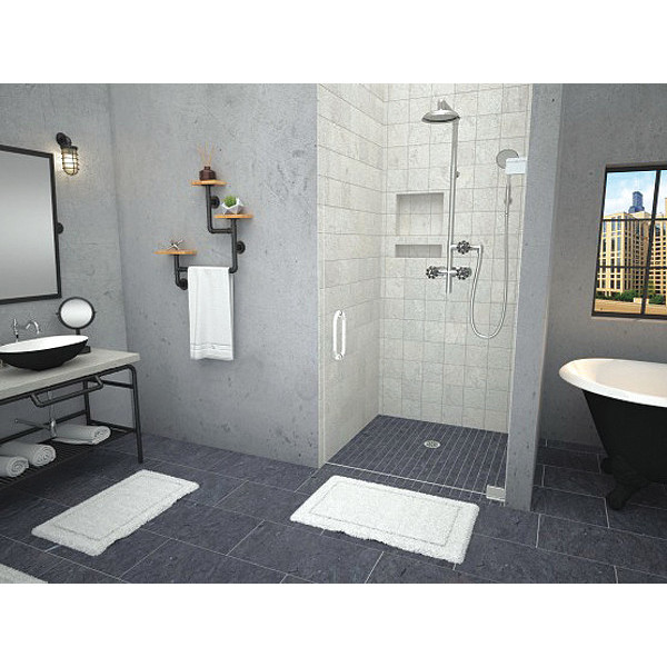 Tile Redi Barrier Free Shower Pan.Details About Tile Redi 3838cbf Pvc 38x38 Barrier Free Shower Base With Center Drain