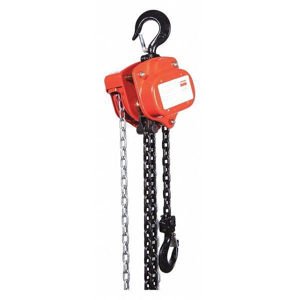 DAYTON 29XP27 Manual Chain Hoist,2000 lb.,Lift 10 ft.