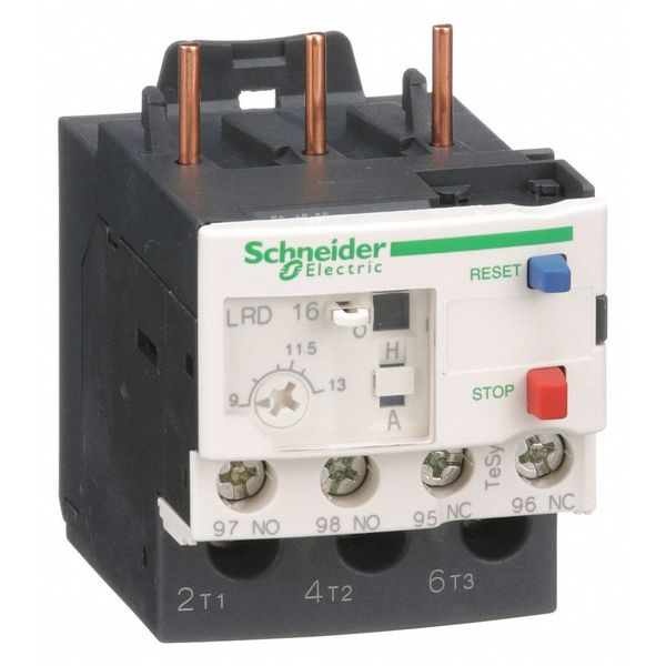 SCHNEIDER ELECTRIC LRD16 Ovrload Rely,9 to 13A,3P,Class 10,690VAC