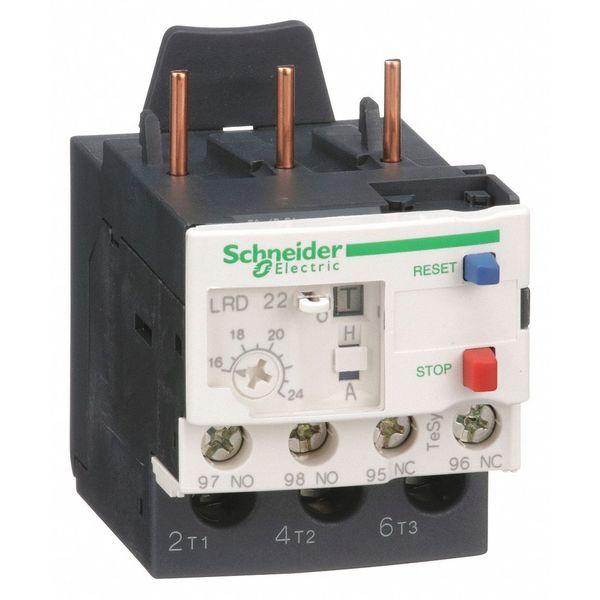 SCHNEIDER ELECTRIC LRD22 Ovrload Relay,16 to 24A,3P,Class 10,690V