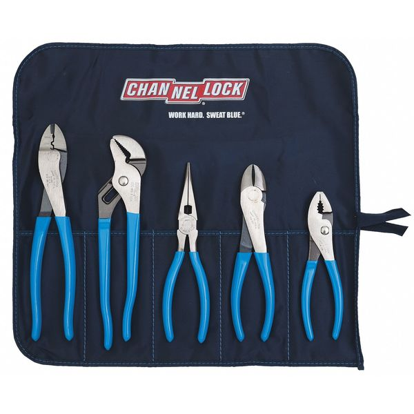 CHANNELLOCK TOOL ROLL 1 Plier Set,Dipped,5 Pcs.
