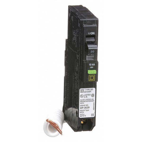SQUARE D QO120AFI 1P AFCI Plug In Circuit Breaker 20A 120 240VAC