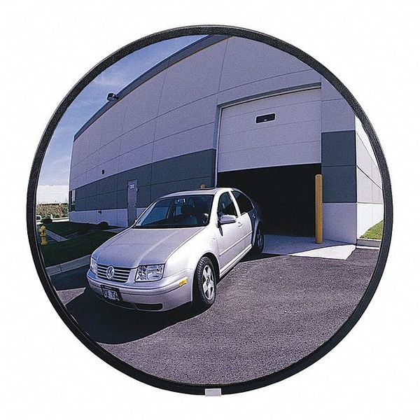 Outdoor Convex Mirror,18in dia,Polycarb ZORO SELECT SCVO-18Z-PC-PB-VT