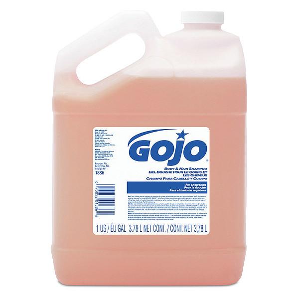 GOJO 1886-04 Body & Hair Shampoo, 1 Gallon Pour Bottle, PK4