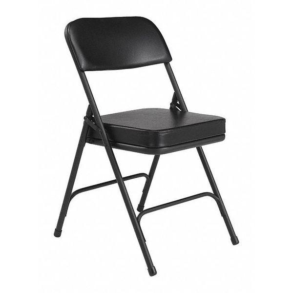 Folding Chair,Vinyl,32in H,Black,PK2 NATIONAL PUBLIC SEATING 3210