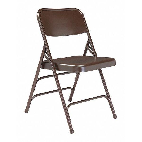 Fine Nps 300 All Steel Triple Brace Armless Premium Big Tall Folding Chair Brown 4Pk Dailytribune Chair Design For Home Dailytribuneorg