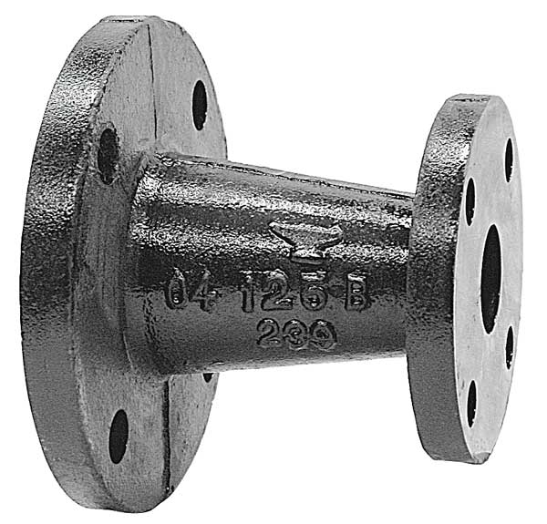 Cast iron eccentric reducer couplings by anvil zoro