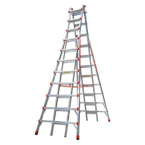 Telescoping Step Ladder : Little giant ft aluminum telescoping step ladder