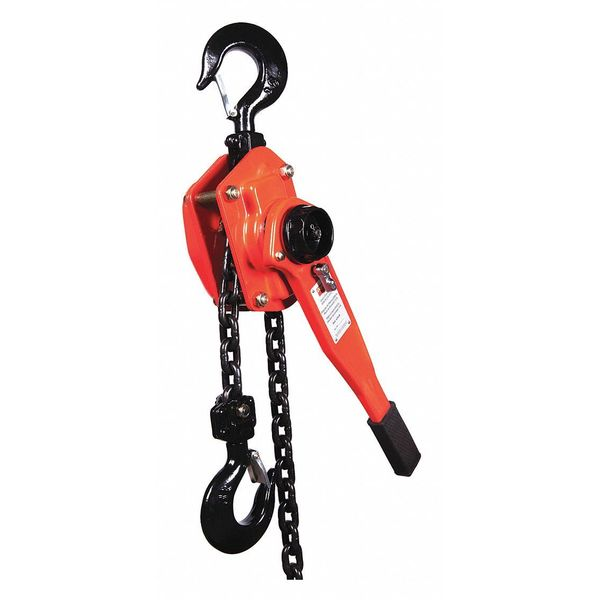 DAYTON 4ZX49 Lever Chain Hoist,6600 lb.,Lift 10 ft.
