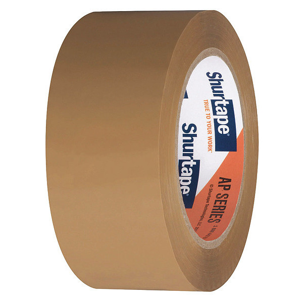 SHURTAPE AP 201 Carton Sealing Tape,48mm x 100m,Tan,PK36