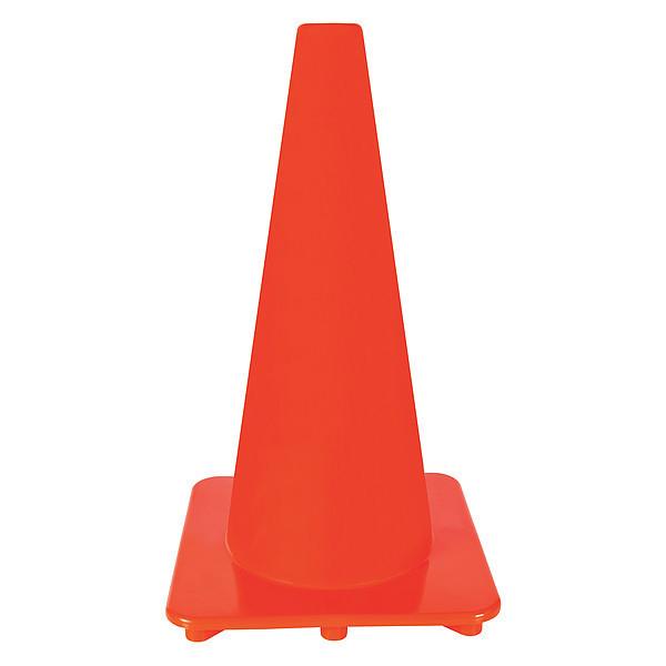 ZORO SELECT 6FGZ1 Traffic Cone,18In,Orange