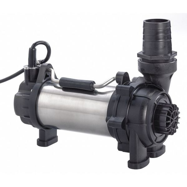 Submersible pond and fountain pumps by dayton for Large pond water pump