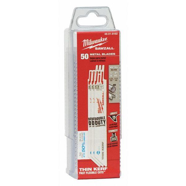 MILWAUKEE 48-01-8182 6 L x 14 TPI Metal Cutting Bi-Metal Reciprocating Saw