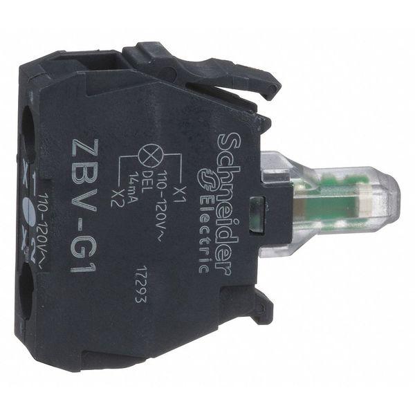 SCHNEIDER ELECTRIC ZBVG1 Lamp Module,22mm,120VAC,White,LED