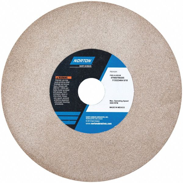 NORTON 07660788265 Grinding Wheel,T1,7x1x1,100//120G,Brown