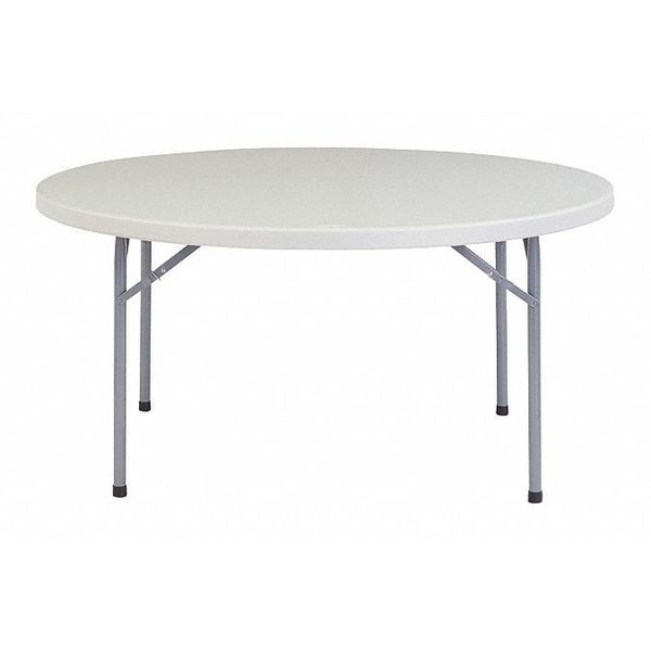 """NATIONAL PUBLIC SEATING BT-60R Round Folding Table, 60""""Dia."""
