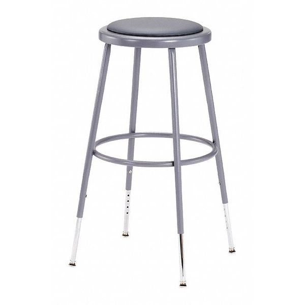 round stool height range 25 to 33 vinyl gray national public seating - National Public Seating
