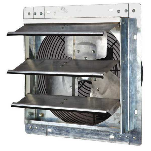 Shutter mount exhaust fans by dayton for 12 inch window fan