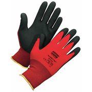 Coated Gloves,S,Black/Red,PR