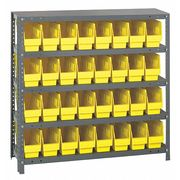 Bin Shelving, Solid, 36X12, 32 Bins, Yellow
