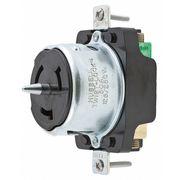 50A Twist-Lock Receptacle 3P 4W 125/250VAC BK