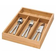 Bamboo Cutlery Tray, 4-Compartments