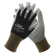 Gloves,Black/Gray,L,10in.L,PU,PR