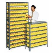 Bin Shelving, Solid, 36X12, 96 Bins, Yellow