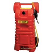 25 gal. Red Polyethylene Fuel Caddy, For Gasoline, Diesel, Kerosene
