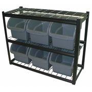Bin Storage Unit, Wire, Gray, 1200 lb.