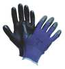 Coated Gloves, XL, Black/Blue, PR