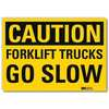 Safety Sign, Trucks Go Slow, 14in.W