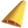 Cable Protector, 3 Channels, Yellow, 25ft.L